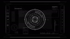 HUD TARGET with ALPHA mask. Stock Footage