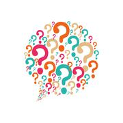 question mark ask icon. Vector graphic - stock illustration