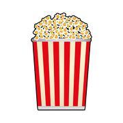 pop corn film movie cinema icon. Vector graphic - stock illustration
