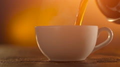 Coffee or Tea. whiteCup of hot beverage with Steam Stock Footage