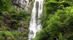 Pistyll Ryder waterfall Stock Footage