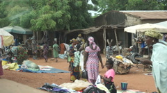 A Market in Mali Africa Stock Footage
