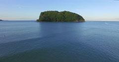 Aerial of whangamata beach clark island, Coromandel, New Zealand Stock Footage