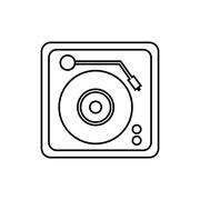 Vinyl machine music sound dj icon. Vector graphic Piirros