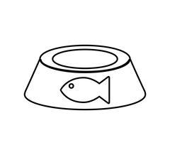 food fish love pet animal icon. Vector graphic - stock illustration