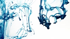 Blue ink dropped into water, in 50 fps. Stock Footage