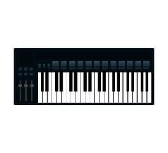 Piano instrument music icon. Vector graphic Piirros