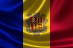 Flag of the Principality of Andorra Stock Illustration