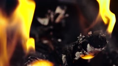 Bright burning wood, Stock Footage