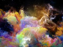 Energy of Space Nebula Stock Illustration