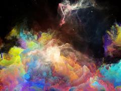 Vision of Space Nebula - stock illustration