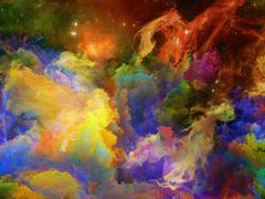 Colorful Space Nebula - stock illustration