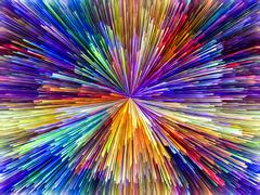 Exploding Colors Stock Illustration