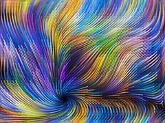 Digital Color Motion Stock Illustration