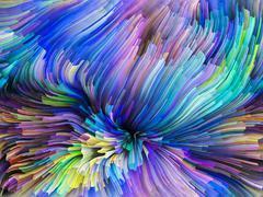 Elegance of Color Motion Stock Illustration