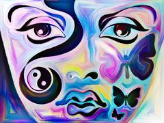 Memories of Blue Girl - stock illustration