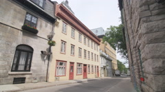 Beautiful old buildings in Quebec City, Quebec, Canada. Stock Footage