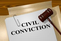 Civil Conviction - legal concept Stock Illustration