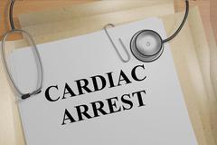 Cardiac Arrest - medical concept Stock Illustration