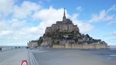 MONT SAINT-MICHEL, FRANCE - MARCH 2016: Mont Saint-Michel general view Stock Footage