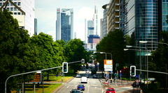 Theodor Heuss Allee Bank District financial center Frankfurt am Main Germany Stock Footage