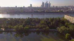 Moscow, Russia, aerial panoramic general city views. - stock footage