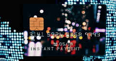 Bank Card / Instant Payment / Digital Globe Stock Footage
