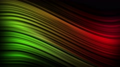 Elegant Curves and Lines Seamless Motion Backgorund 4K Ultra HD Green Red Stock Footage