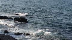 Storm Surf in black sea near Sozopol Stock Footage