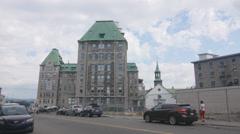 Hotel-Dieu de Quebec Hospital in Quebec City, Quebec, Canada. Stock Footage