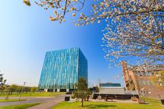 The Sir Duncan Rice Library of University of Aberdeen. Stock Photos