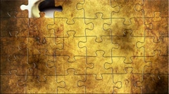 Grunge puzzles over loan concept Stock Footage