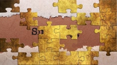 Grunge puzzles over sincerely text Stock Footage
