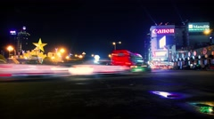 Night time-lapse traffic in Ho Chi Minh City (Saigon) Vietnam. Stock Footage