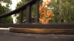 Eternal Flame, symbol of victory Stock Footage