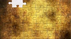 Grunge puzzles over communication Stock Footage