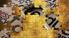 Grunge puzzles over tax concept Stock Footage