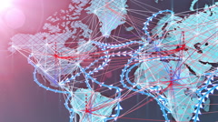 World wide Connections - International Data Flow Stock Footage