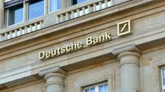 4K Deutsche Bank at Roßmarkt old town Frankfurt am Main Germany Europe Stock Footage