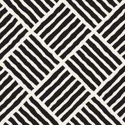 Vector Seamless Diagonal Lines Grid Pattern - stock illustration