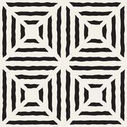 Vector Seamless Diagonal Lines Grid Pattern Stock Illustration