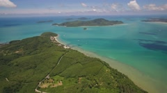 Cape Panwa and Koh Hae in Phuket Shot From a Drone Stock Footage
