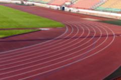 Old treadmill stadium Stock Photos