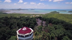 Khao Khad Viewpoint Overlooking Phuket Town in Thailand Stock Footage