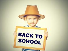 Text  back to school. Stock Photos