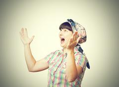 Young woman angry screaming Stock Photos