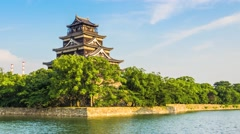 HIROSHIMA CASTLE -  JAPAN - stock footage