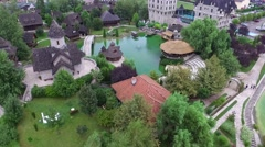 Beautiful Scenic drone aerial footage of Etno village Stanisici Stock Footage
