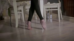 Girl dancing. Close-up of legs Stock Footage