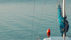Buoy and Sea Water Stock Footage
